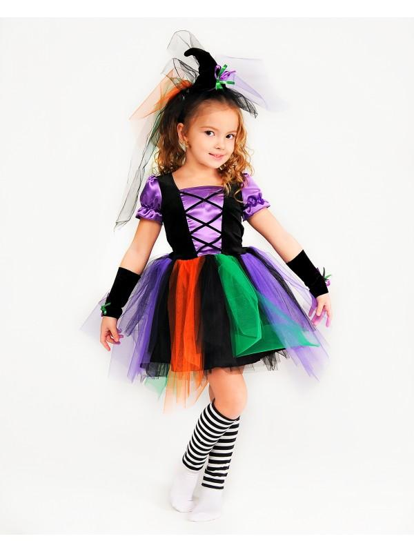 Карнавальний костюм Міс Відьма для дівчаток