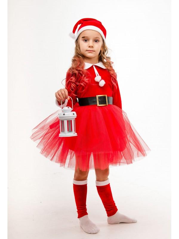 Карнавальний костюм новорічний Сашка Подружка Санта Клауса