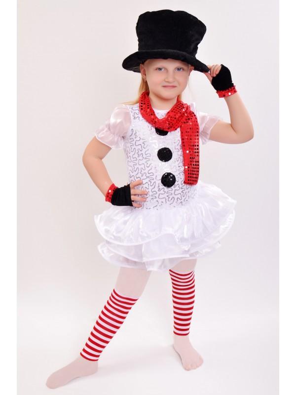 Карнавальний костюм Сніговичок - дівчинка