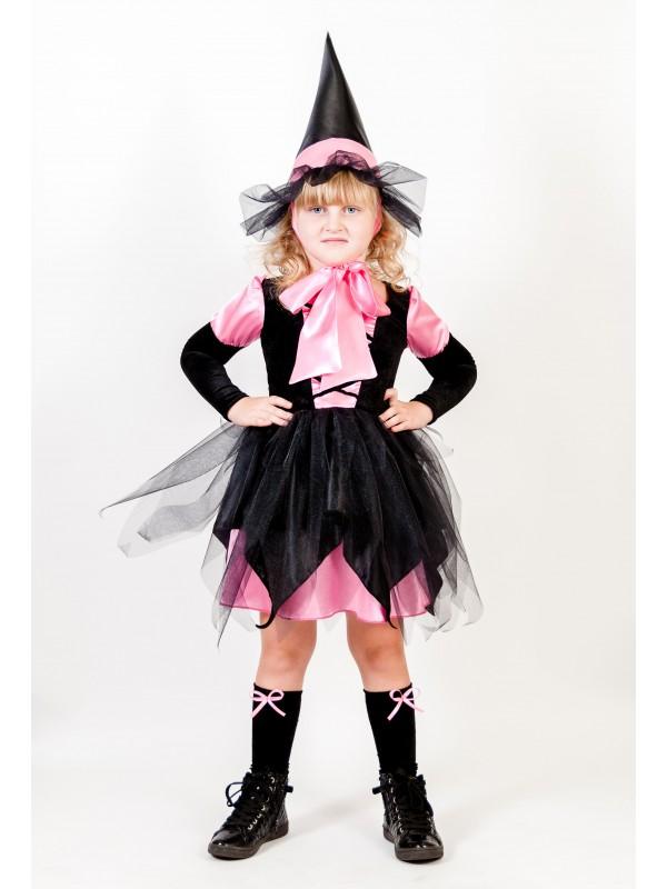 Карнавальний костюм Відьмочка рожева