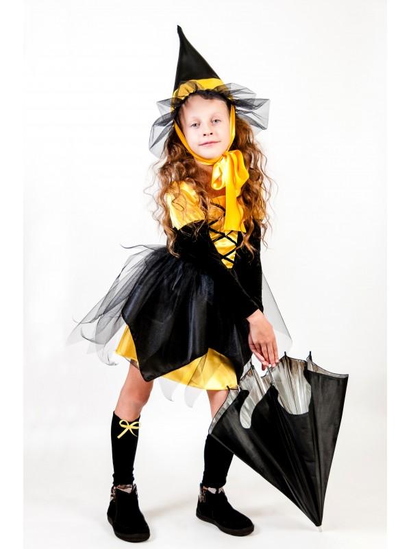 Карнавальний костюм Відьмочка жовта
