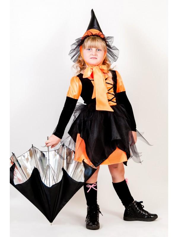 Карнавальний костюм Відьмочка помаранчева