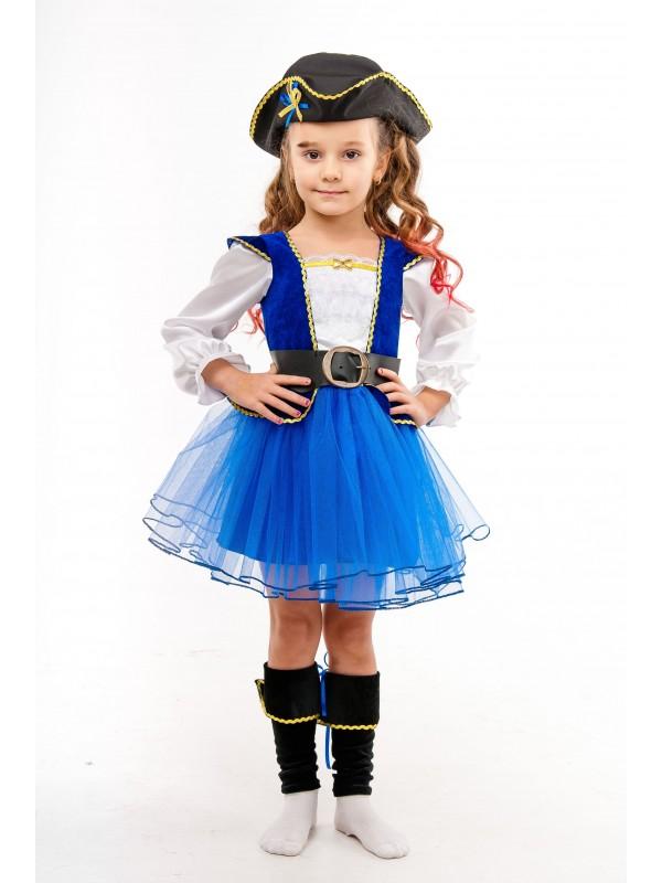 Костюм карнавальний DM SASHKA Пиратка Синя 122-128 синьо-білий: огляд, опис, придбати