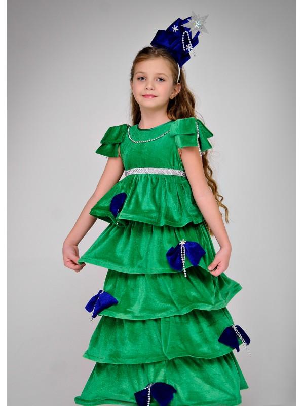 Карнавальний костюм Ялинка Царська (сині прикраси)