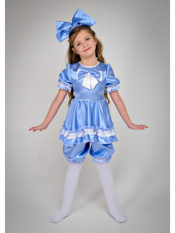 Карнавальний костюм Мальвіна блакитно-біла