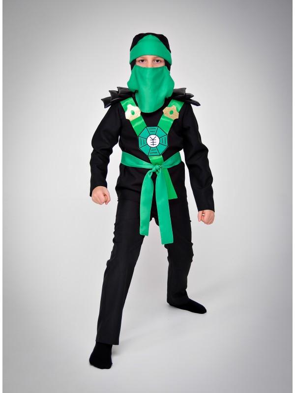 Карнавальний костюм Ніндзяго (зелений)