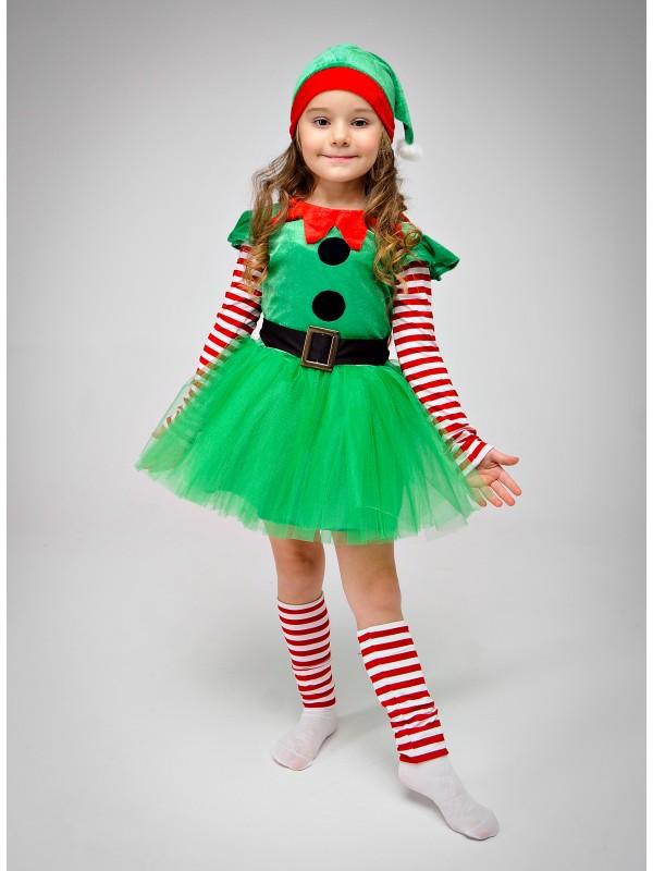 Карнавальний костюм Дівчинка Різдвяний Ельф