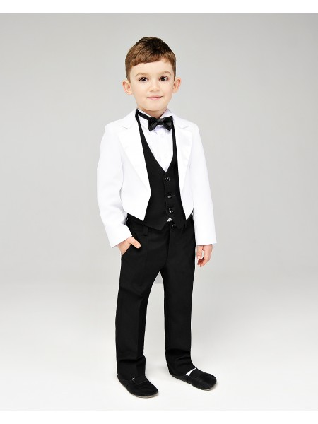 Костюм ошатний для хлопчика Фрак біло-чорний
