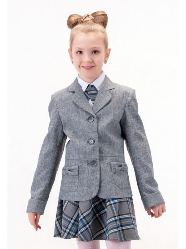 Жакет для дівчинки шкільний сірий