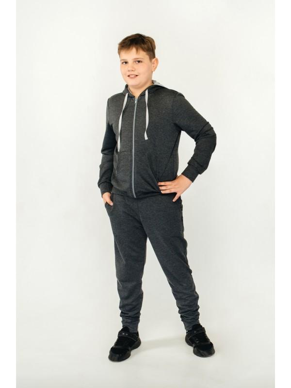 Спортивний костюм для хлопчика темно-сірий