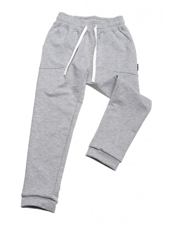 Спортивні штани для дівчинк модельні світло-сірий меланж