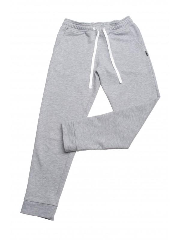 Спортивні штани для дівчинки світло-сірий меланж