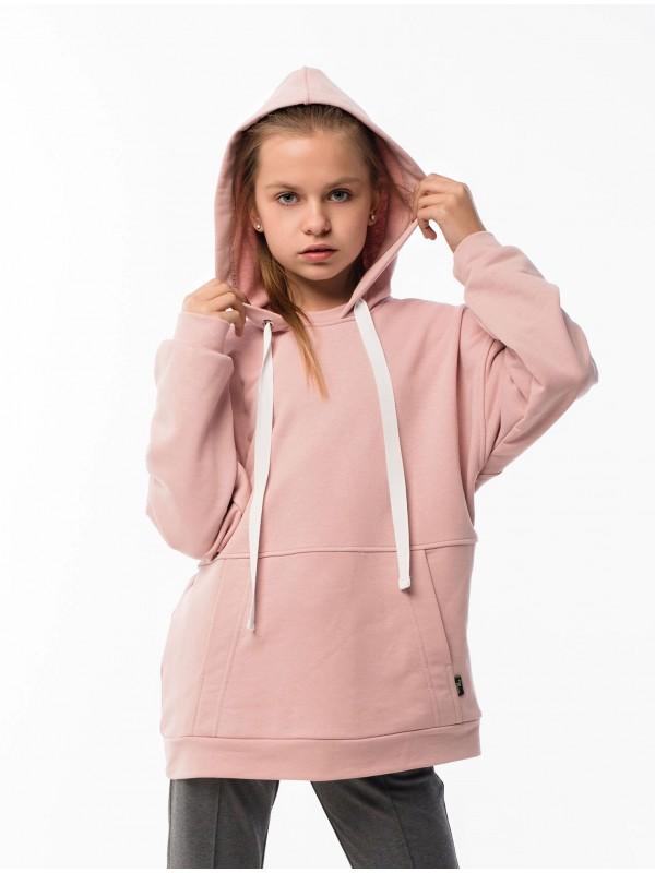 Худі для дівчинки Oversize рожеве