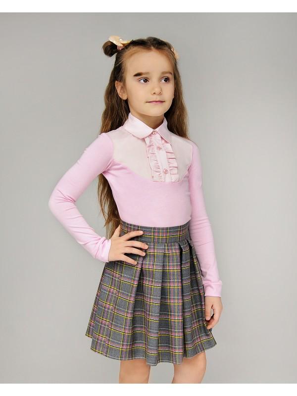 Блуза для дівчинки трикотажна рожева