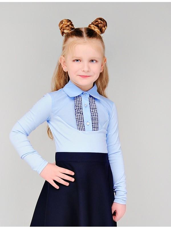 Блуза для дівчинки трикотажна блакитна