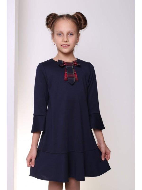 Плаття для дівчинки шкільна синє