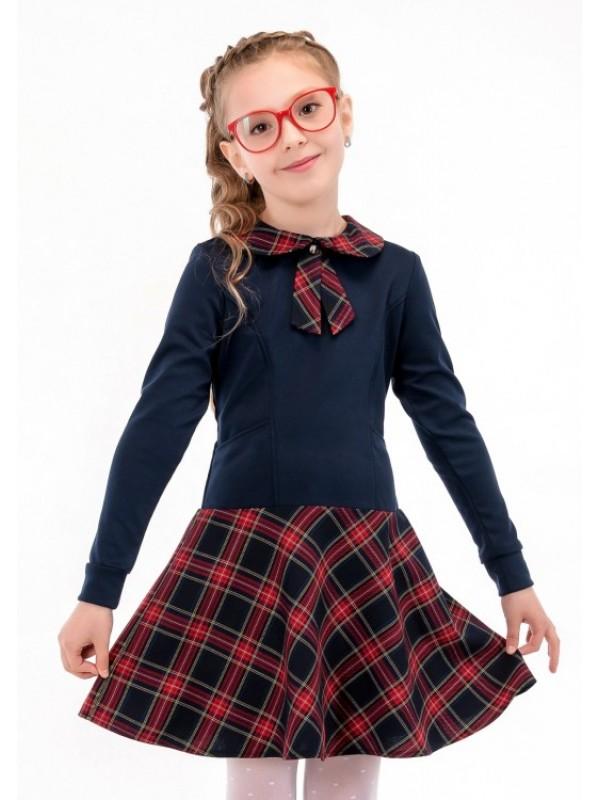 Плаття для дівчинки шкільне синє