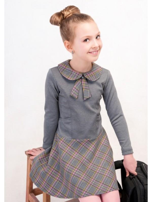 Плаття для дівчинки шкільне сіре
