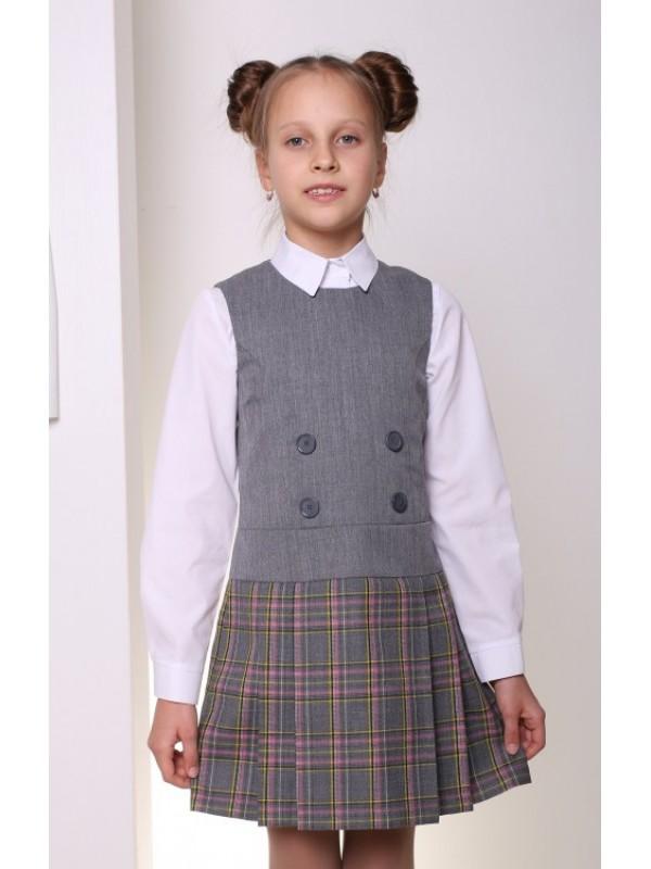 Сарафан шкільний сірий