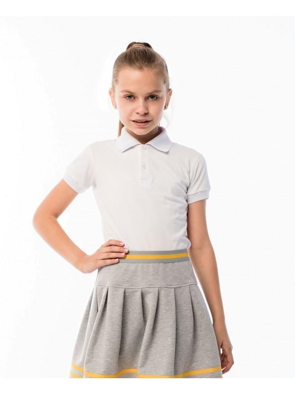 Поло для дівчинки біле