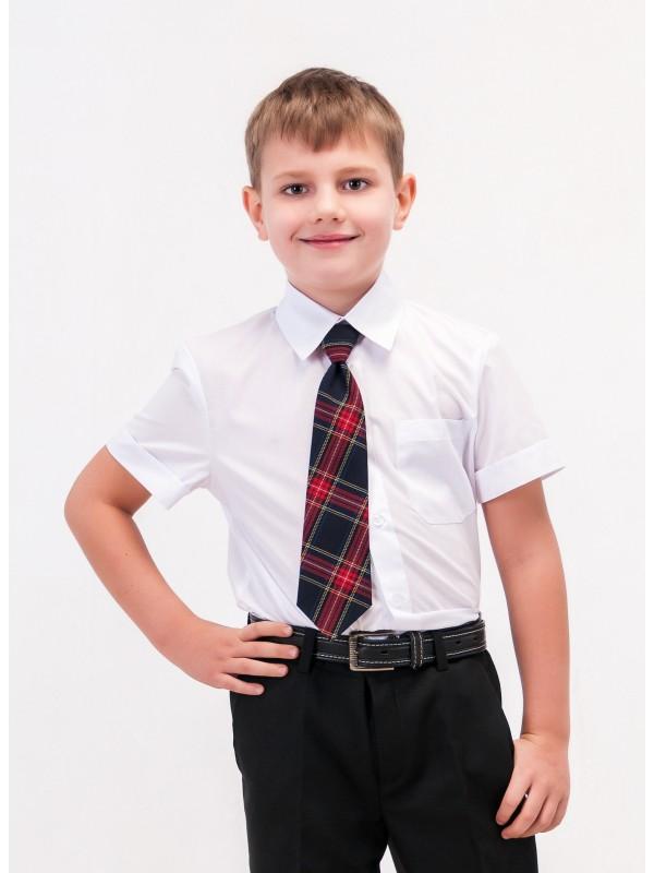 Сорочка біла шкільна класична для хлопчика короткий рукав
