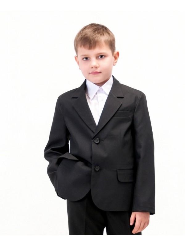 Піджак шкільний класичний для хлопчика напіввовна чорний