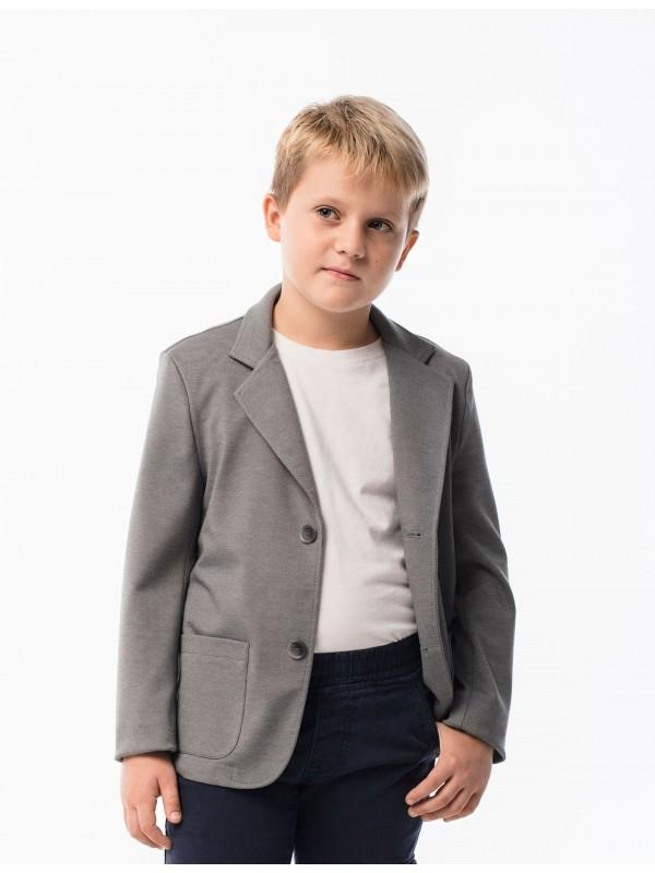 Піджак трикотажний шкільний для хлопчика сірий