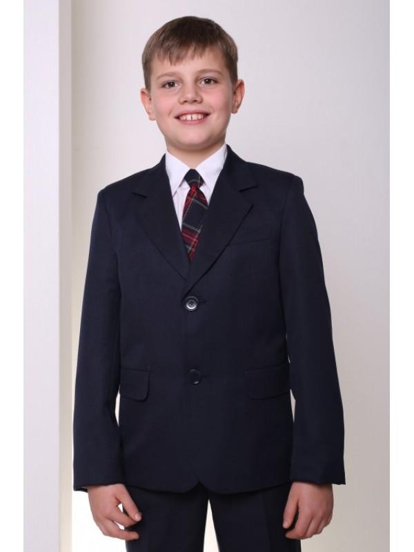Піджак шкільний класичний для хлопчика напіввовна синій